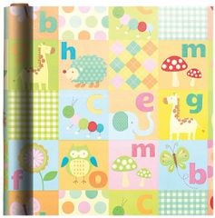 Alphabet Animals Gift Wrap, 16ft