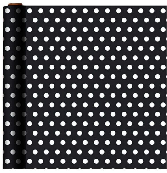 Jumbo Black Polka Dot Gift Wrap, 16ft