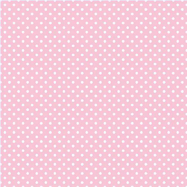 Small Dot - New Pink Printed Jumbo Gift Wrap w/Hang Tab, 16ft