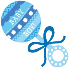Baby Boy Rattle Cutout