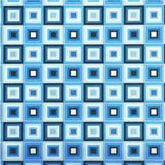 Blue Squares Jumbo Foil Embossed Gift Wrap, 12ft