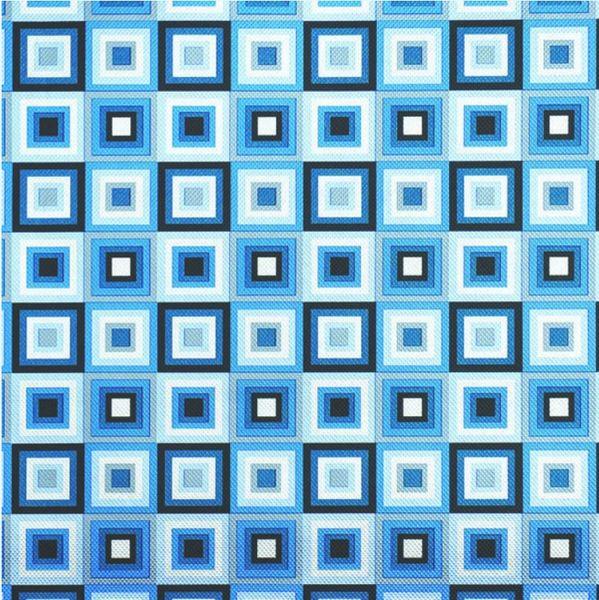 Blue Squares Jumbo Foil Embossed Gift Wrap, 12ft
