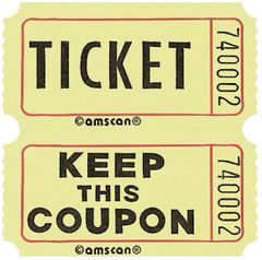 Yellow Double Roll Raffle Tickets, 2000ct