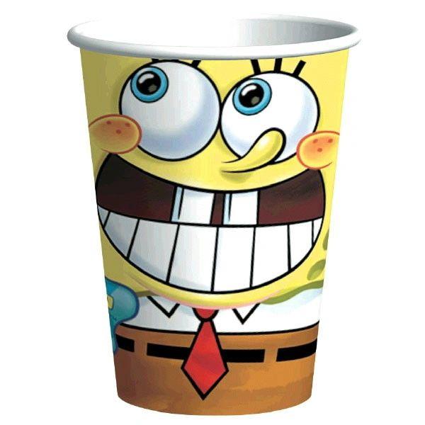 SpongeBob Classic Cups,9oz.