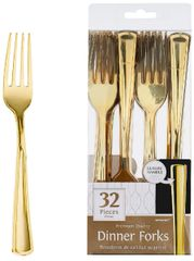 Dinner Forks - Gold, 32ct