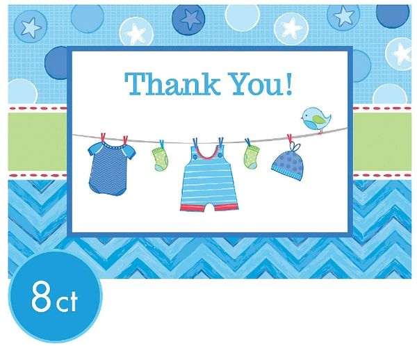 It's a Boy Baby Shower Thank You Notes, 8ct