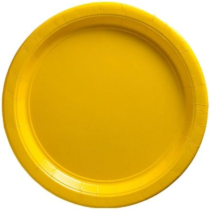 "Big Party Pack Yellow Sunshine Dessert Paper Plates, 7"" - 50ct"