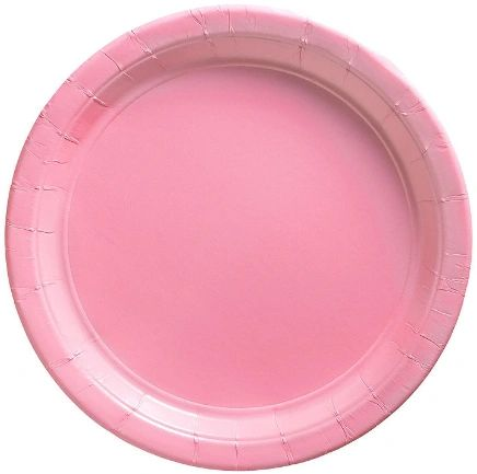 "Big Party Pack New Pink Dessert Paper Plates, 7"" - 50ct"