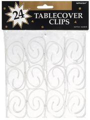 CLEAR Table Cover Clips, 24ct