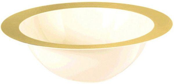 Bowl - Cream w/ Gold Rim