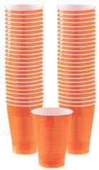 Big Party Pack Orange Plastic Cups, 12oz - 50ct