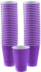 Big Party Pack New Purple Plastic Cups, 12oz - 50ct