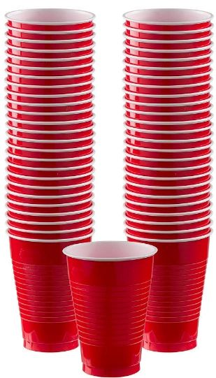 Big Party Pack Red Plastic Cups, 12oz - 50ct