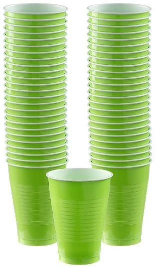 Big Party Pack Kiwi Plastic Cups, 12oz - 50ct