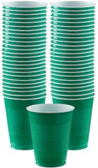 Big Party Pack Festive Green Plastic Cups, 16 oz - 50ct