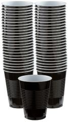 Big Party Pack Black Plastic Cups, 16 oz - 50ct