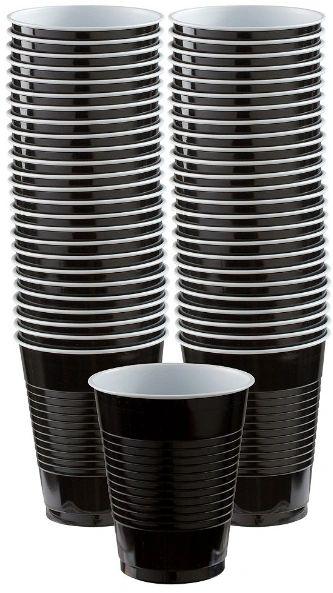 Big Party Pack Black Plastic Cups, 16 oz - 50ct