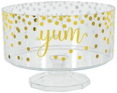Hot-Stamped Trifle Plastic Container, Medium - Gold