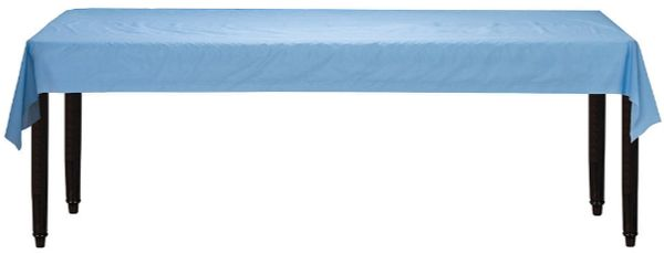 "Pastel Blue Solid Table Roll, 40"" x 100'"