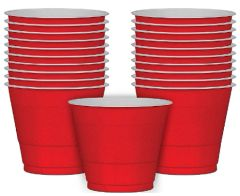 Apple Red Plastic Cups, 9 oz - 20ct