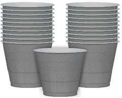 Silver Plastic Cups, 9 oz - 20ct