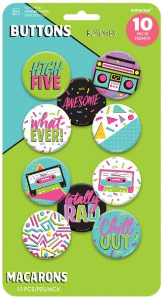Awesome Party Buttons, 10ct