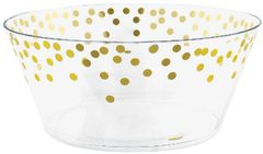 Dots Large Plastic Serving Bowl - Hot-Stamped