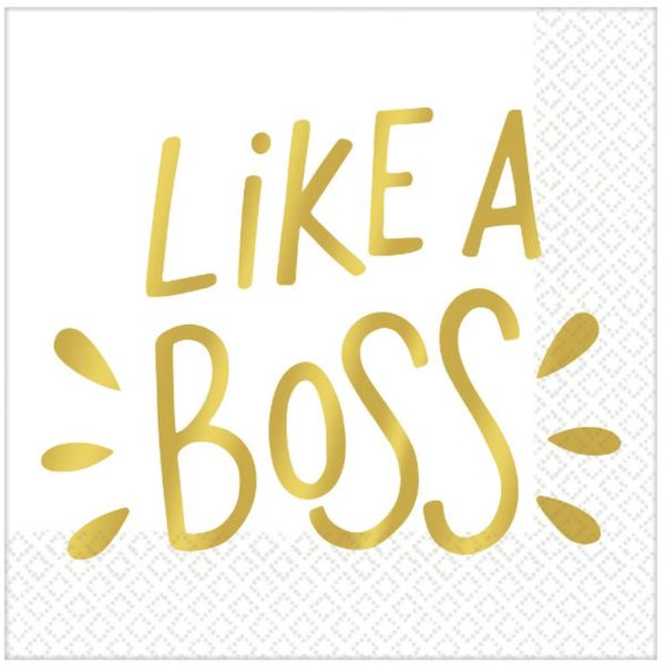 Like A Boss Beverage Napkins - Hot-Stamped, 16ct