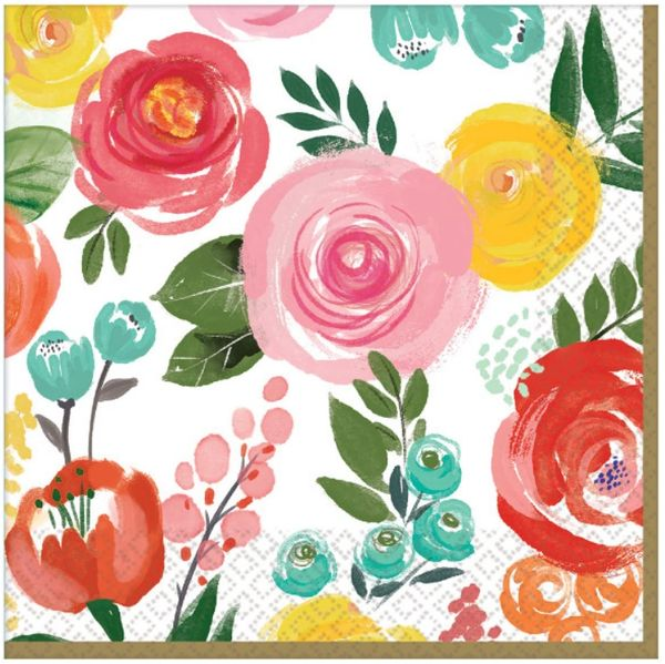 Bright Florals Luncheon Napkins, 16ct