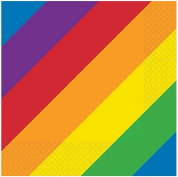 Rainbow Beverage Napkins, 16ct