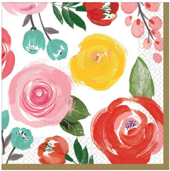 Bright Floral Beverage Napkins, 16ct
