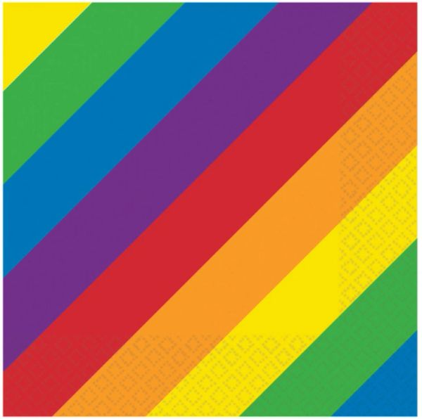 Rainbow Lunch Napkins, 16ct