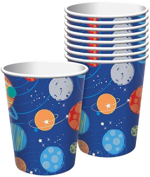 Blast Off Birthday Cups, 9 oz. - 8ct