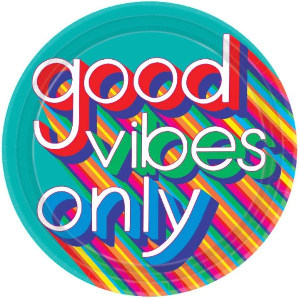 "Good Vibes Dinner Plates, 10 1/2"" - 8ct"
