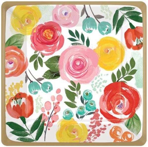 "Bright Florals Dinner Plates, 10"" - 8ct"