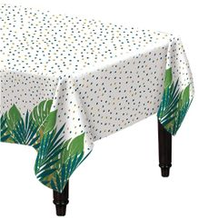Key West Palm Leaf Flannel-Backed Vinyl Tablecloth