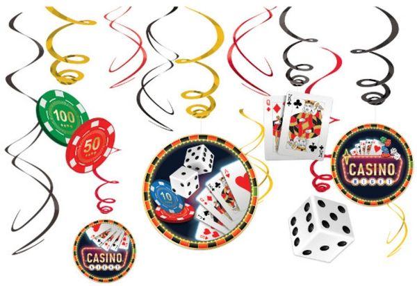 Casino Swirl Decorations, 12ct