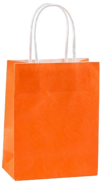 Orange Kraft Bag