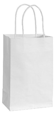 White Solid Kraft Bag - Cub