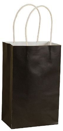 Black Solid Kraft Bag - Cub