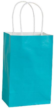 Caribbean Blue Solid Kraft Bag - Cub