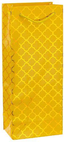 Metallic Yellow Moroccan Bottle Bag