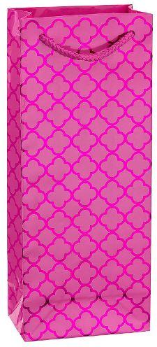 Metallic Bright Pink Moroccan Bottle Bag