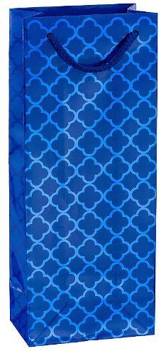 Metallic Royal Blue Moroccan Bottle Bag