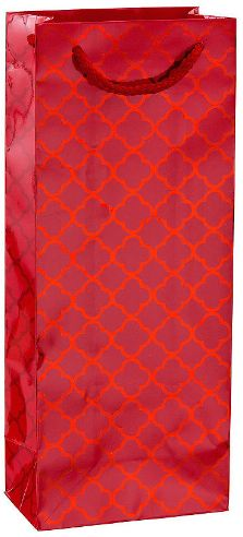 Metallic Red Moroccan Bottle Bag