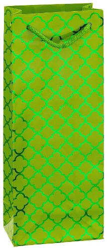 Metallic Kiwi Green Moroccan Bottle Bag