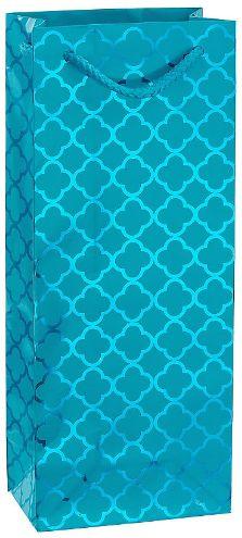 Metallic Caribbean Blue Moroccan Bottle Bag