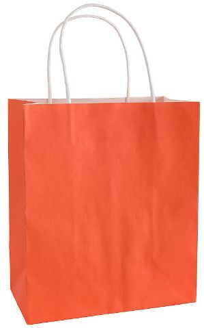 Orange Solid Kraft Bag - Medium