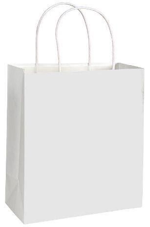 White Solid Kraft Bag - Medium