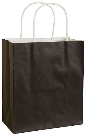 Black Solid Kraft Bag - Medium